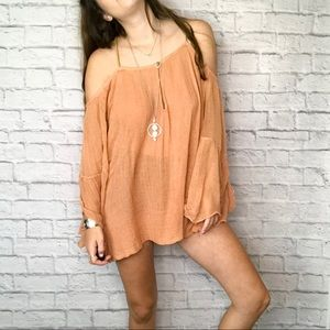 Jens pirate Booty free people backless gauze top